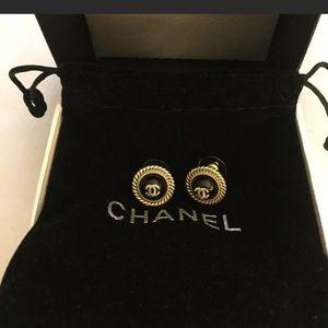 Authentic Chanel stud earrings